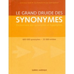 Le Grand Druide des synonymes - Dictionnaire des synonymes et hyponymes